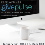 Free GivePulse Webinar: All About Events