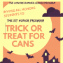 Trick or Treat for Cans with the Honors Program