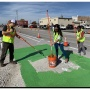 Fayetteville Protected Bike Lane Installation