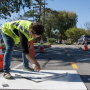Springdale Protected Bike Lane Install