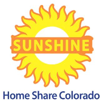 Sunshine Home Share Colorado | GivePulse