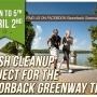 Razorback Greenway Trail Clean Up